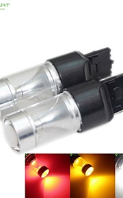 2 x T20 7440 W21W  30W 6xCREE White / Red / Yellow / Cold White 2100LM 6500K for Car Brake Light Reverse Lamp 12-24V