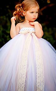 Детское праздничное платье - Бальное платье Длина по щиколотку Без рукавов Тюль / Полиэстер