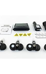 spion interne zonne-energie technologie auto alarm systeem beveiliging bandenspanning monitor met numerieke weergave zonnepaneel