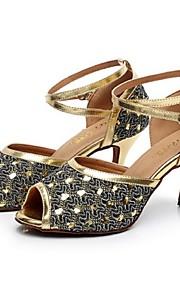 Zapatos de baile ( Plata / Oro ) - Danza latina - No Personalizable - Tacón Luis XV