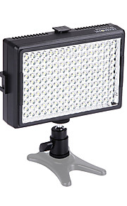6000mcd 160pcs 5500K dæmpes farve-justerbar ledede videolys fotografering lampe til canon nikon kamera