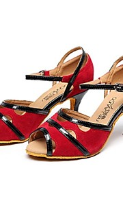 Zapatos de baile ( Negro / Azul / Rojo ) - Danza latina - No Personalizable - Tacón Luis XV