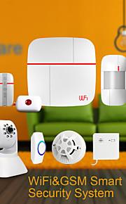 home security alarm systeem met deur sensoren medische belknop en beweging lekkage gas rookmelders