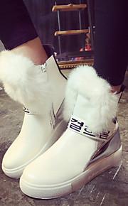 Women's Shoes Low Heel Snow Boots / Fashion Boots / Comfort / Round Toe Boots Casual Black / White