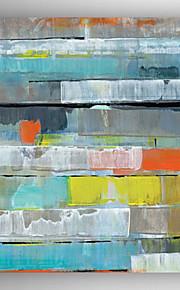 pintura al óleo de la pintura abstracta pintada a mano con estirada enmarcado listo para colgar