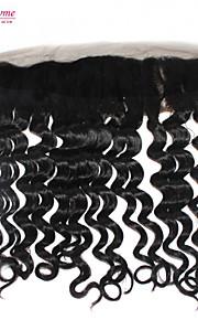 Реми бразильский девственной человеческого волоса швейцарский шнурок фронтальной 1b 120% 13 * 4 дюйма свободная волна сверху кружева