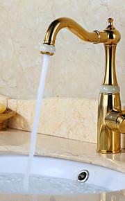 ברז כיור אמבטיה עם ברז עיצוב עתיק גימור TI-PVD