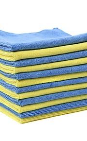 tirol 12pcs microfibra toalla de limpieza del coche 40 * 40cm bicolor limpieza del coche multifuncional paño de lavado