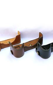 dengpin pu læder halv kamerataske taske cover base for sony ilce-7m2 a7ii (assorterede farver)