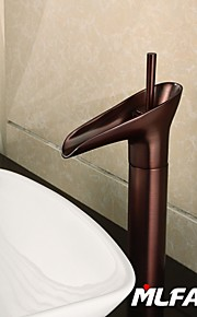 Mlfalls Brands New Single Hole Deck Mounted Brass Antique Copper Finish Waterfall Basin Taps
