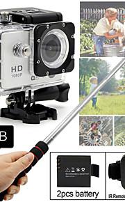 SDV-506 Sportskamera 2 12MP 1920 x 1080 CMOS 32 GB H.264Kinesisk / Japansk / Engelsk / Tysk / Italiensk / Russisk / Tyrkisk / Hollandsk /