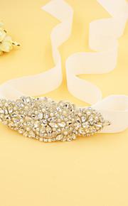 Satin / Perle Mariage / Fête/Soirée Ceinture-Strass / Imitation de perle Femme 180cm Strass / Imitation de perle