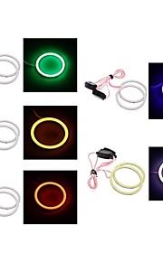 2 stuks 80mm / 90mm 4W 400lm wit / blauw / rood / groen / roze licht angel eyes licht (12V)