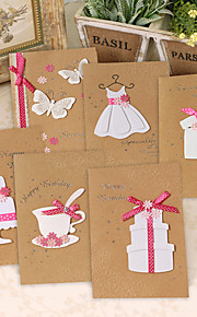 Non-personalized Side Fold Wedding Invitations Thank You Cards / Greeting Cards - 1 Piece/Set