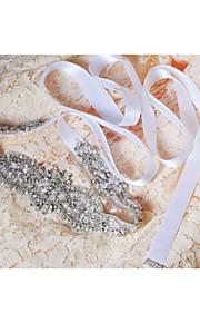 Satin Mariage / Fête/Soirée / Quotidien Ceinture-Paillettes / Billes / Appliques / Perles / Cristal Femme 250cmPaillettes / Billes /