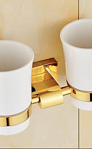 Hammasharjateline / Kylpyhuoneen laitteet Ti-PVD Seinään asennettu 23cm*8cm*12cm(9*3.1*4.7inch) Messinki Uusklassinen