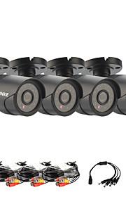 annke® infrarood cmos echte 800tvl cctv camera hd infrarood bewakingscamera binnen / outdoorsecurity bullet camera 4 stuks
