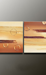 Hand-Painted AbstractModern Two Panels Canvas Oil Painting For Home Decoration