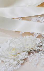 Satin Mariage / Fête/Soirée / Quotidien Ceinture-Paillettes / Billes / Appliques / Perles / Fleur Femme 250cmPaillettes / Billes /