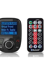 bil mp3 lydafspiller bluetooth FM transmitter med fjernbetjening Trådløs FM modulator bil kit håndfri usb oplader