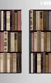 E-HOME® Stretched Canvas Art Bookshelf Decoration Painting  Set of 2