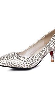 Women's Shoes Leatherette Stiletto Heel Heels Heels Wedding / Office & Career / Party & Evening Blue / Silver / Gold