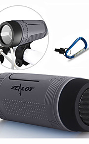 bluetooth speaker / draagbare stroom bank / led / bellen beantwoorden / TF stereo 5 in 1 + houder + sport haak