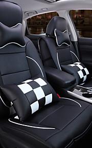 una nueva completa de la tela escocesa de cuero funda de cojín de asiento de coche del automóvil de protección interior del asiento de