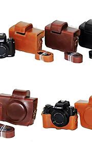 dengpin pu læder kamerataske taske dække med skulderrem til Canon PowerShot g5 x (assorterede farver)