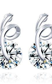 Pendiente Pendientes Stud Aleación Cristal De mujeres
