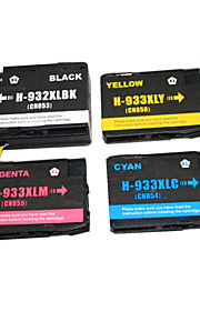 BLOOM®932+933C/M/Y Compatible Ink Cartridge For HP 6100e/6600e/6700/7110/H812a Full Ink(4 color 1 set)