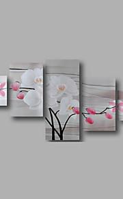 """estirada (listo para colgar) pintura al óleo pintado a mano 68 flores modernas """"x32"""" arte de la pared de la lona de la orquídea de color"""