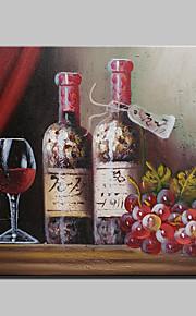 다 이닝 룸 장식 20x25cm 프레임과 캔버스에 미니 크기 손으로 그린 포도 와인 현대 추상 유화