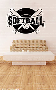 4054 Aiwall Softball Sport Ball That is Pitched Underhand Game Wall Decal Wall Sticker Vinyl Wall paper Art Home Decor