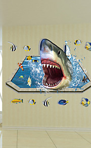 חיות מדבקות קיר מדבקות קיר תלת מימד,PVC 90*60cm