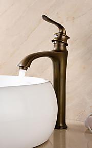 deckenmontiert Einhand Ein Loch in Antikes Messing Waschbecken Wasserhahn