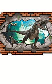 Dinosaur Animals / Cartoon Wall Stickers 3D Wall Stickers,PVC 90*60cm