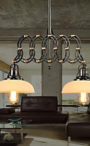 40W-60W Traditionnel/Classique LED / Designers Peintures Métal LustreSalle de séjour / Chambre à coucher / Salle à manger / Cuisine /
