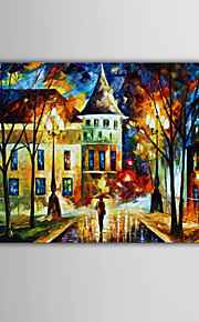 Hand-Painted Abstract / Fantasy / Abstract Landscape Modern Oil Painting , Canvas One Panel