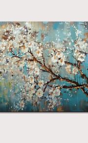 mini håndmalt abstrakt landskap moderne blomster oljemaleri på lerret klar til å henge en panel