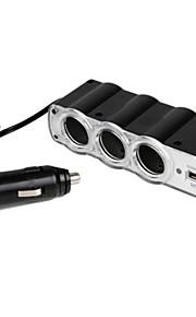 3-voudige sigarettenaansteker adapter met usb