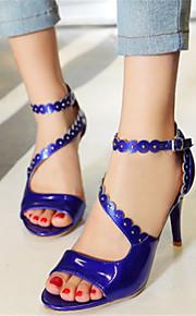 Синий / Розовый / Белый / Бежевый-Женская обувь-Для праздника / На каждый день / Для вечеринки / ужина-Лакированная кожа-На шпильке-На