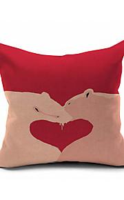Romantic Inventive Animal Printing Pillow Cover , Soft Short Plush Pillow Cushion