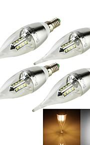 4 stk. YouOKLight E14 3W 16 SMD 2835 250 lm Varm hvit / Kjølig hvit C35 Dekorativ LED-lysestakepærerAC 85-265 / AC 220-240 / AC 100-240 /