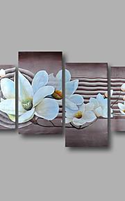 """strukket (klar til å henge) håndmalte oljemaleri 64 """"x40"""" lerret veggen kunst moderne blomster hvite magnolia"""
