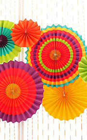 6pcs/set Mix 3 Size(20cm,30cm,40cm)Tissue Paper Pom Poms Fans Wedding Party Baby Shower Festival Decoration