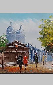 20x25cmをハングアップする準備ができて、キャンバス1つのパネル上のミニサイズ手描きのパリ都市景観現代の油絵