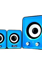 """jituo 2802 draagbare usb aangedreven 2.1-kanaals stereo-luidsprekers van de computer geleverd met 3 """"echte subwoofer en USB Power"""