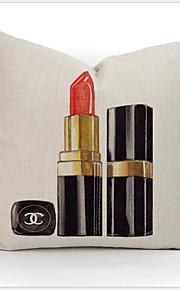Pillow 45X45cm 18'' Home Fashion Modern Lipstick Perfume Cotton Linen Pillowcase NO.5 Printed Girl Lady Gift