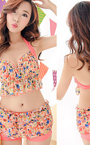 Damen Tankinis / Bikinis - Floral Bügel-BH / Gepolsterte BHs Elasthan / Chiffon Bandeau